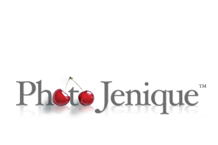 photo jenique logo design