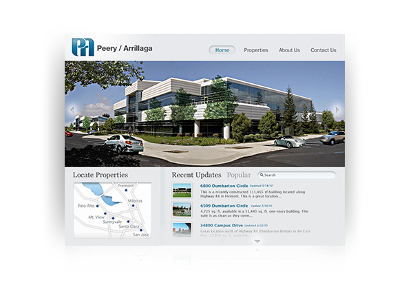 peery arrillaga real estate seo web design