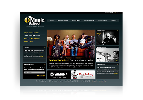 music school web design